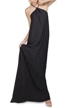 Halter Floor-length Chiffon Bridesmaid Dress