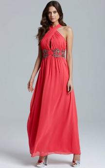 Gorgeous A-Line Chiffon Dress With Ruching