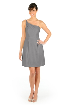 Short Fabulous A-Line One-Shoulder Dress With Pockets