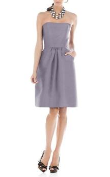 Strapless Satin Short Dress with Pockets