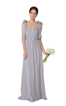 Long-Chiffon Impressive Dress With Giveaway Changeable Cape