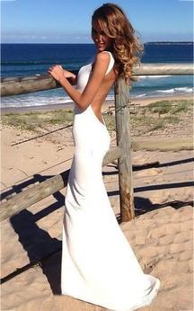 Mermaid Mini Jewel Sleeveless Bell Bat Backless Keyhole Lace Satin Dress