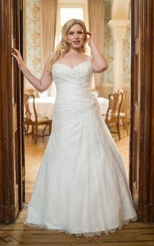 Mermaid Floor-Length Straps Sleeveless Lace Beading Dress