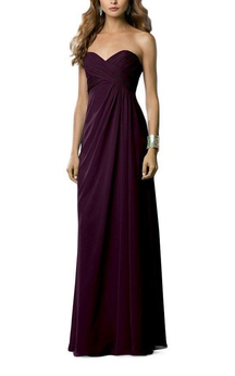 Empire Sweetheart Long Dress with Ruching