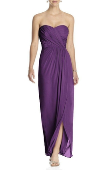 Ruched Sweetheart Chiffon Bridesmaid Dress with Front Split