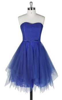 A-line Short Strapless A-line Tulle Dress