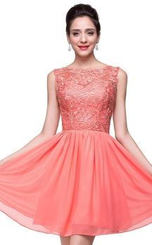 Lovely Lace Sleeveless Hoemcoming Dress 2016 Short Chiffon