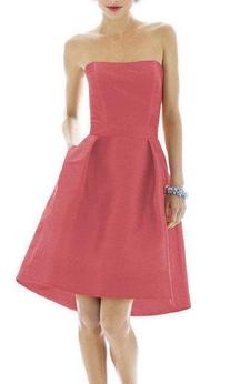 Vintage High-low A-line Short Dress