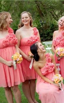 A-line Short One-shoulder Sleeveless Flower Zipper Chiffon Dress