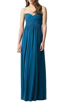 Sweetheart Criss-cross Empire Chiffon Long Dress
