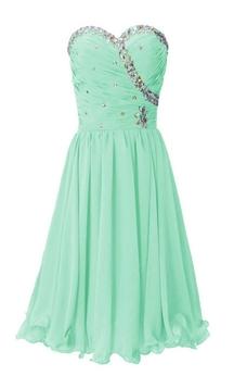 Strapless Sweetheart Ruffled Short Dress With Rhinestones