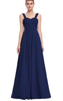 Empire Sweetheart Empire Chiffon Pleated Dress