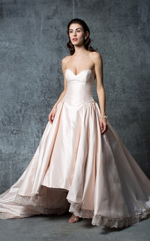 Sweetheart Sexy Taffeta Ball Gown With Bottons