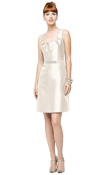 Sleeveless Stylish Dress With Scoop Neckline