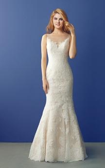 Floor Length Lace Mermaid Wedding Gown