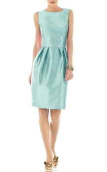 Vintage Satin Sleeveless Short Dress