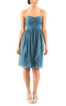 Convertible Ruched Short Chiffon Dress