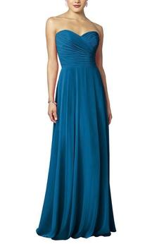 Criss-cross Long Chiffon Dress