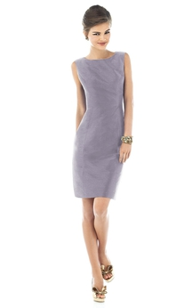 Short Fitted Form Dress With Keyhole Back