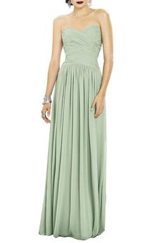 Sweetheart Ruched Chiffon Bridesmaid Dress