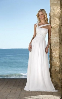 Hot Selling sheath V-Neck Chiffon Wedding Dress