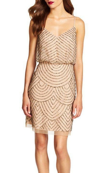 Art Deco Spagetti Straps Short Dress
