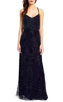 Luxurious Art Deco Floor-length Bridesmaid Dress