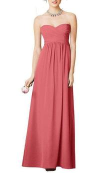 Sweetheart Empire Pleated A-line Chiffon Long Dress