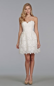 Enchanting Sweetheart Neckline Mini Lace Dress