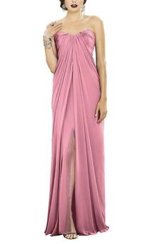 Gracian Sweetheart Chiffon Bridesmaid Dress with Front Split