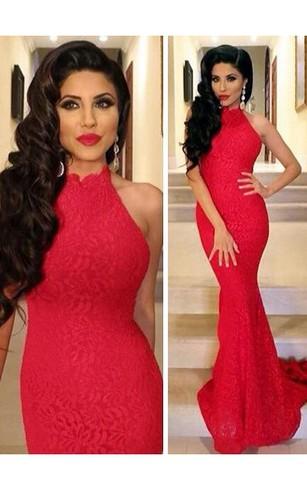 Red Long Evening Dresses | Red Long Prom Dress - Dorris Wedding