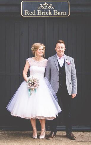 Tea Length Bridal Dresses | Mid-Length Wedding Gown - Dorris Wedding