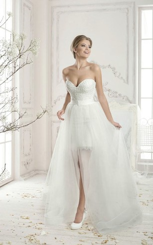 Detachable Style Skirt Bridal Dress, Wedding Gowns with Demountable ...