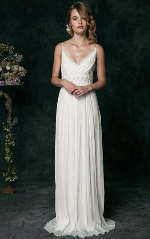 Empire type wedding dress