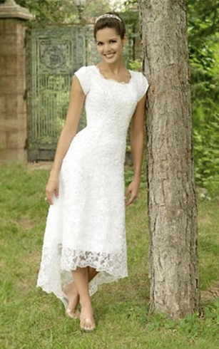 Short Length Wedding Dress For Old Brides Older Woman Short
