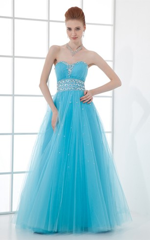 Fabulous Sleeveless Satin a Line Beaded Special Occasion Dresses
