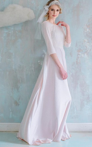 Modest Long Sleeve Bridesmaids Dresses | High Neck Bridesmaid Gowns ...