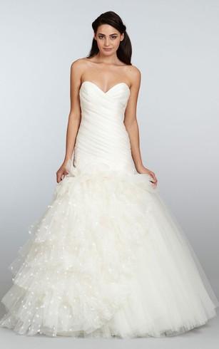 Basque Waist Style Bridal Dress   Wedding Gowns With Drap&Deep Waist ...