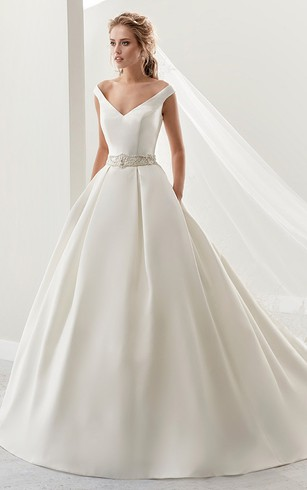 Unique and Affordable Ball Gown Wedding Dresses with Train - Dorris ...