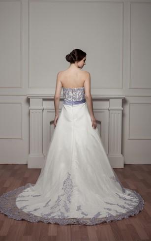 Purple And White Wedding Dresses - Dorris Wedding