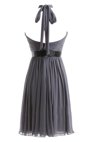 Sleeveless Asymmetrical Dress With Criss-cross Style