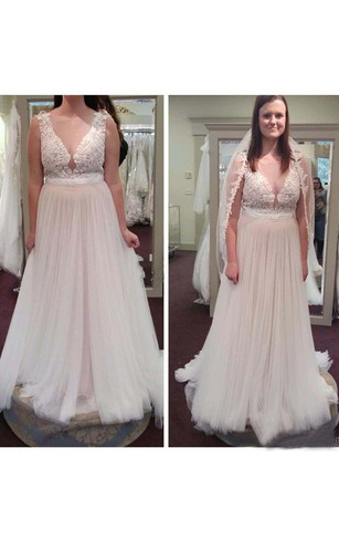 Plus Figure Beach Bridal Dresses Large Size Style Wedding Gowns