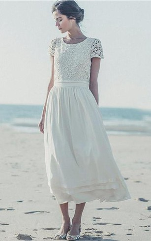 Short Length Wedding Dress for Old Brides, Older Woman Short Bridal ...