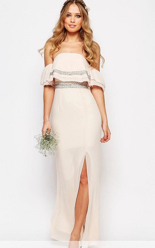 Off-the-Shoulder Bridesmaid Dress