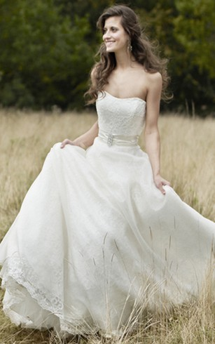 Rustic wedding gowns country western bridal dresses dorris wedding strapless floor length sleeveless broach lace wedding dress junglespirit Image collections