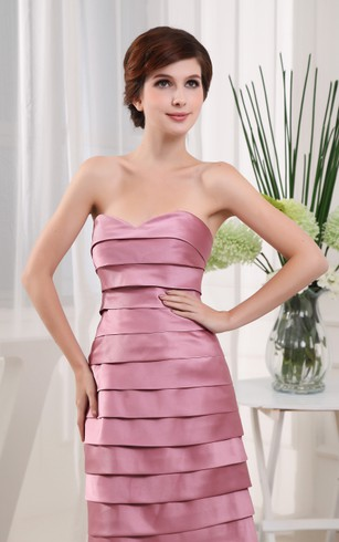 Lovely Strapless Midi Dress With Tiers and Wrap