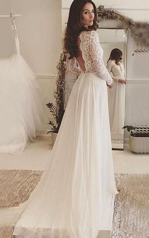 Flowy Beach Wedding Gowns   Cheap Chiffon Bridal Dresses - Dorris ...