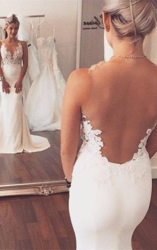 Noble Sleeveless Lace Appliques 2016 Wedding Dresses Mermaid on Sale
