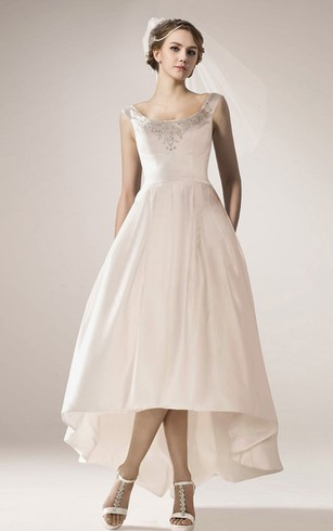 Hi Lo Wedding Dresses with Straps