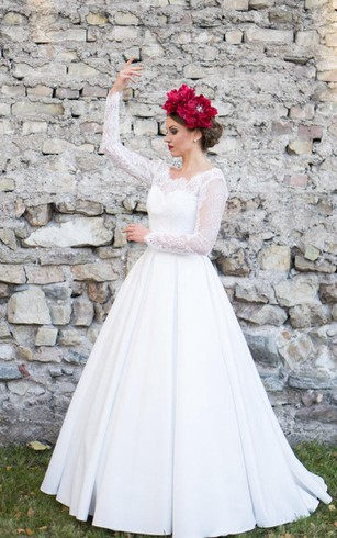 Cheap Vintage Bridal Dresses | Retro Long Sleeve Lace Wedding Gown ...